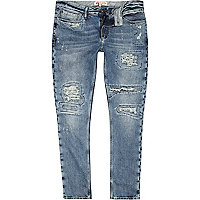 Light wash ripped Flynn skinny jeans
