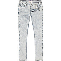 Light acid wash Flynn skinny jeans
