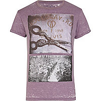 Purple Holloway Road photo print t-shirt