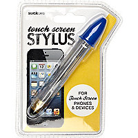 Blue touch screen stylus pen