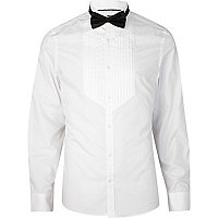 White bow tie tux shirt