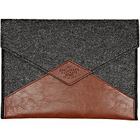 Brown and grey colour block tablet case
