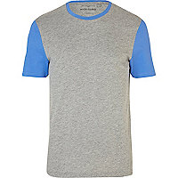 Grey contrast sleeve t-shirt