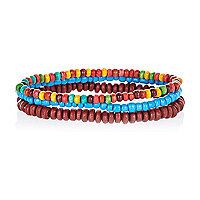 Multicoloured bead bracelet pack