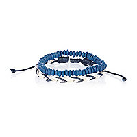 Blue and white woven bead bracelet pack