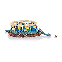 Blue and brown bracelet pack