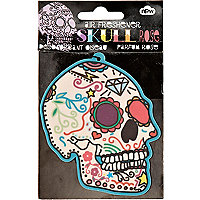 Skull rose car air freshener