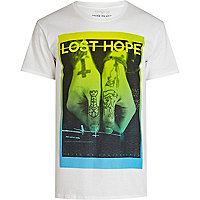 White lost hope photo print t-shirt