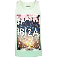 Light green Ibiza print vest