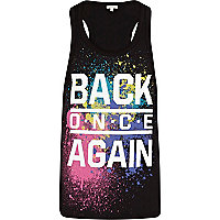 Grey back once again print vest