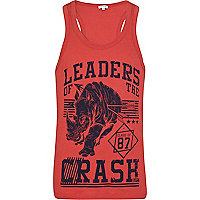 Red leaders of the crash rhino print vest
