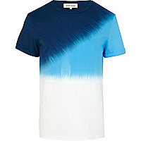 Blue diagonal dip dye t-shirt