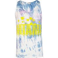 Blue tie dye Miami print vest