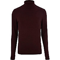 Dark purple roll neck jumper