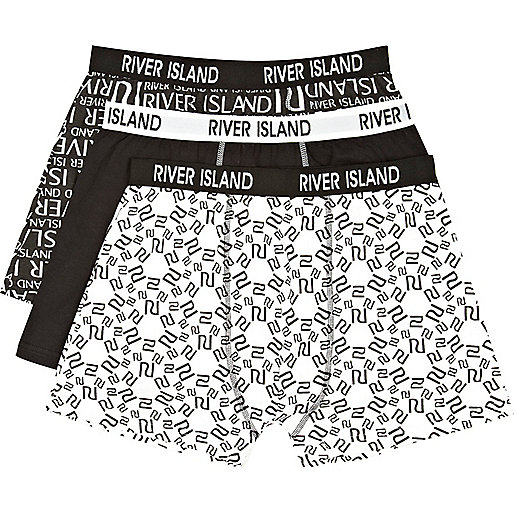 Black and white RI logo boxer shorts pack