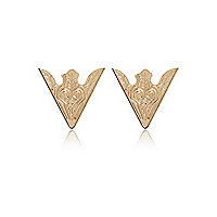 Gold tone western collar tips
