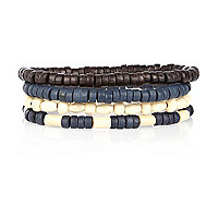 Navy beaded bracelet pack