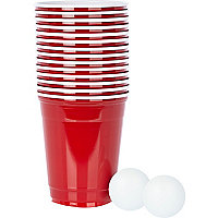 Red beer pong set