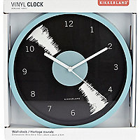 Black Kikkerland vinyl wall clock