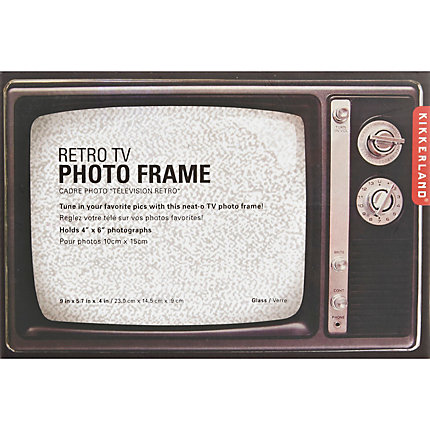 Black Kikkerland retro TV photo frame