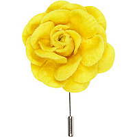 Bright yellow flower lapel pin