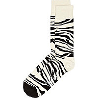 Black zebra print Happy Socks