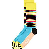Yellow stripe Happy Socks