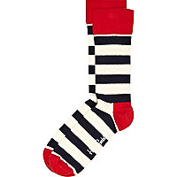 White bold stripe Happy Socks