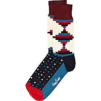 Black diamond print Happy Socks