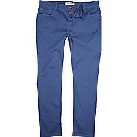 Mid blue casual skinny trousers