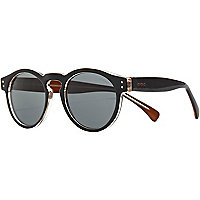 Black Komono round sunglasses