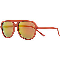Red Komono mirrored sunglasses