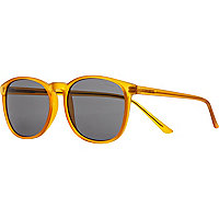 Yellow Komono smoke lens sunglasses