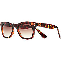 Brown Komono tortoise shell retro sunglasses