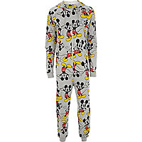 Grey Mickey Mouse print onesie