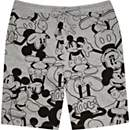Grey Mickey Mouse print jogger shorts