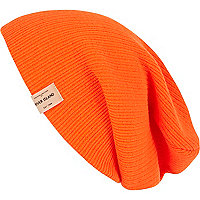 Orange fluro beanie hat