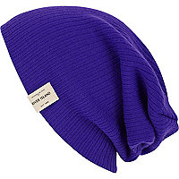 Purple fluro beanie hat