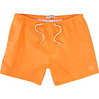 Neon orange swim shorts