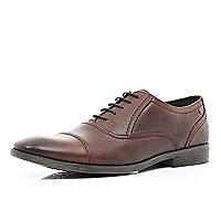Brown Base toe cap formal shoes