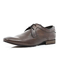 Brown Base lace up formal shoes