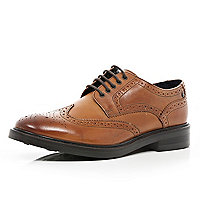 Brown Base lace up brogues