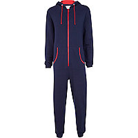 Navy I love mud onesie