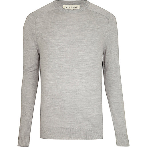 Light grey raglan sleeve jumper