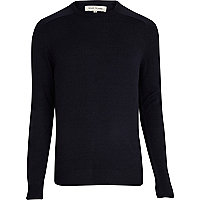 Navy raglan sleeve jumper