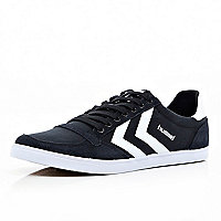 Black Hummel slim trainers