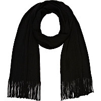 Black super soft scarf