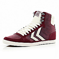 Red contrast panel Hummel high tops