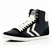 Black contrast panel Hummel high tops