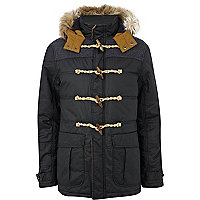 Navy padded casual duffle jacket